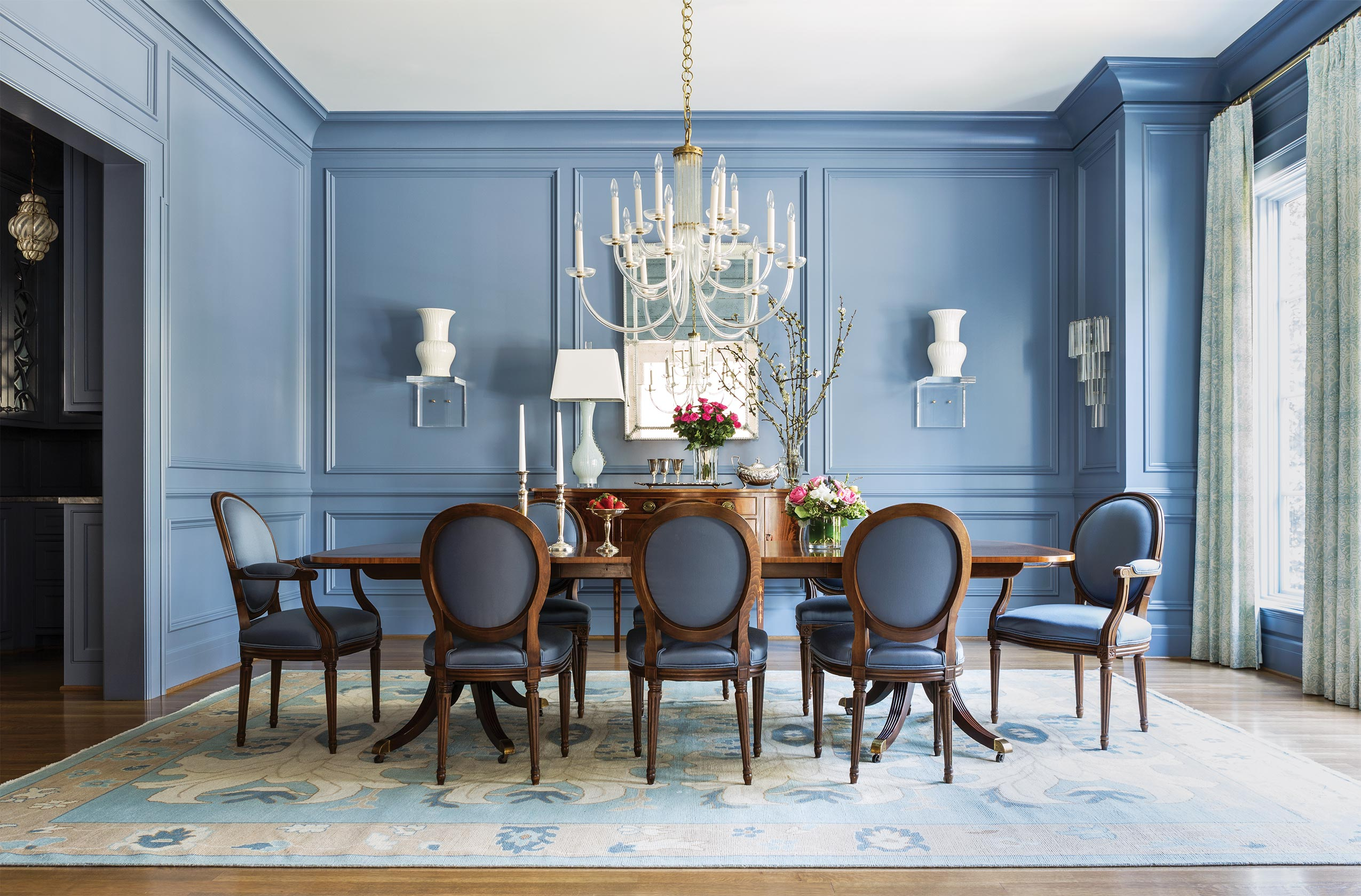 Elegant Dining Room KEvin Walsh Redesign Little Rock Family Home Classical And  Contemporary