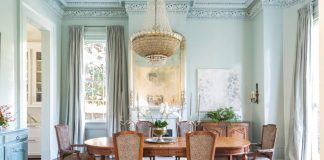 Dining Room New Orleans Garden District Home 5 year renovation