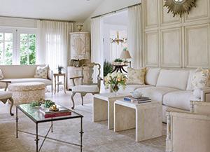 Living room for 1950s renovation.