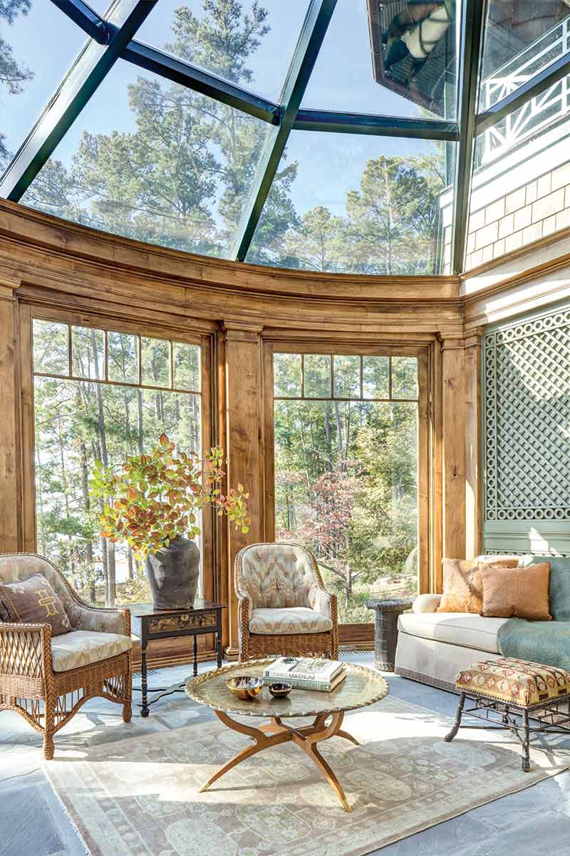 glass enclosed conservatory