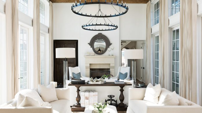 Great room with french doors