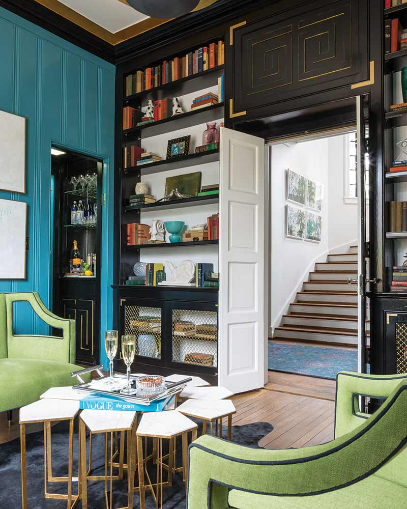 Library in Julian Price Showhouse