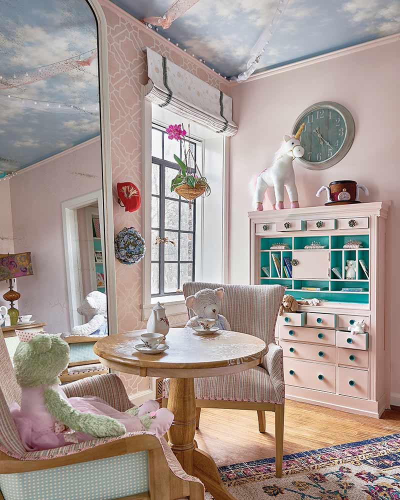 Girl's playroom in Julian Price Showhouse