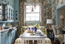 breakfast room in Julian Price showhouse