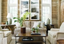 living room with neutral hues