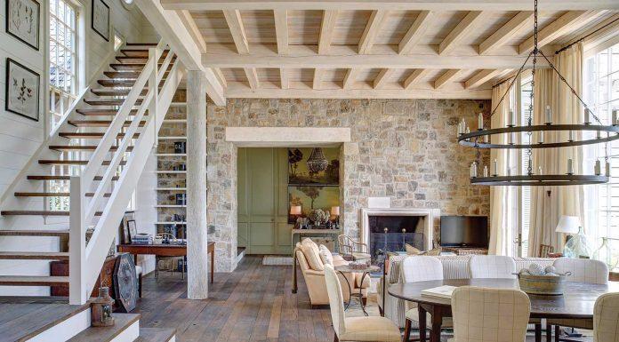 lake martin home living area