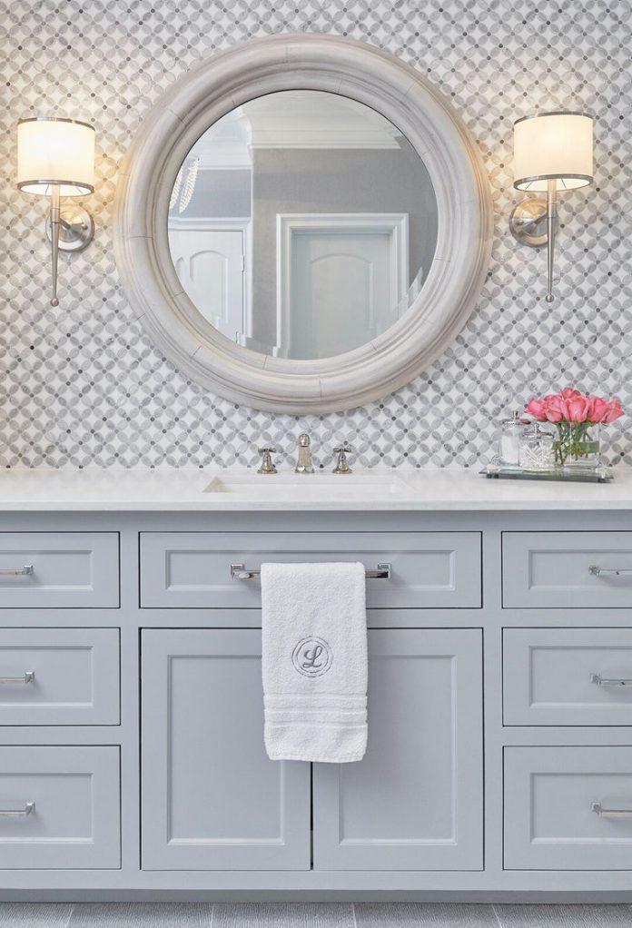 mosaic tile vanity