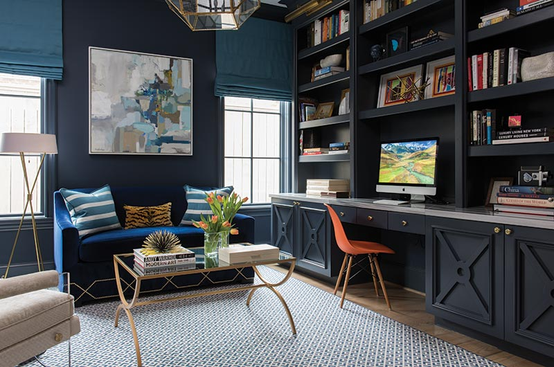 modern and masculine library