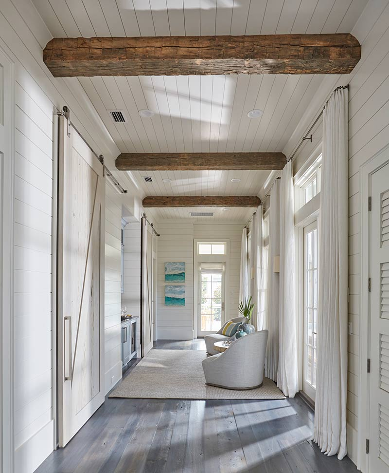 coastal foyer with natural light