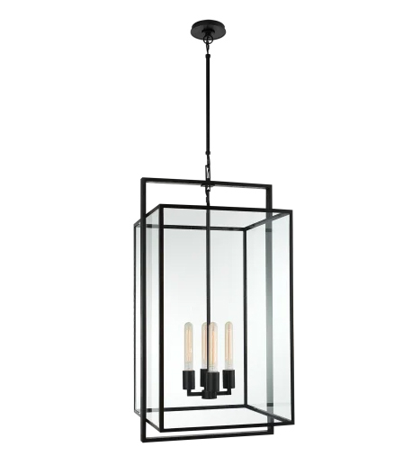Halle Medium Lantern in Aged Iron by Ian K. Fowler for Visual Comfort