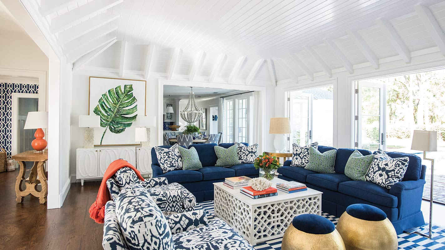 Sea Island cottage living room